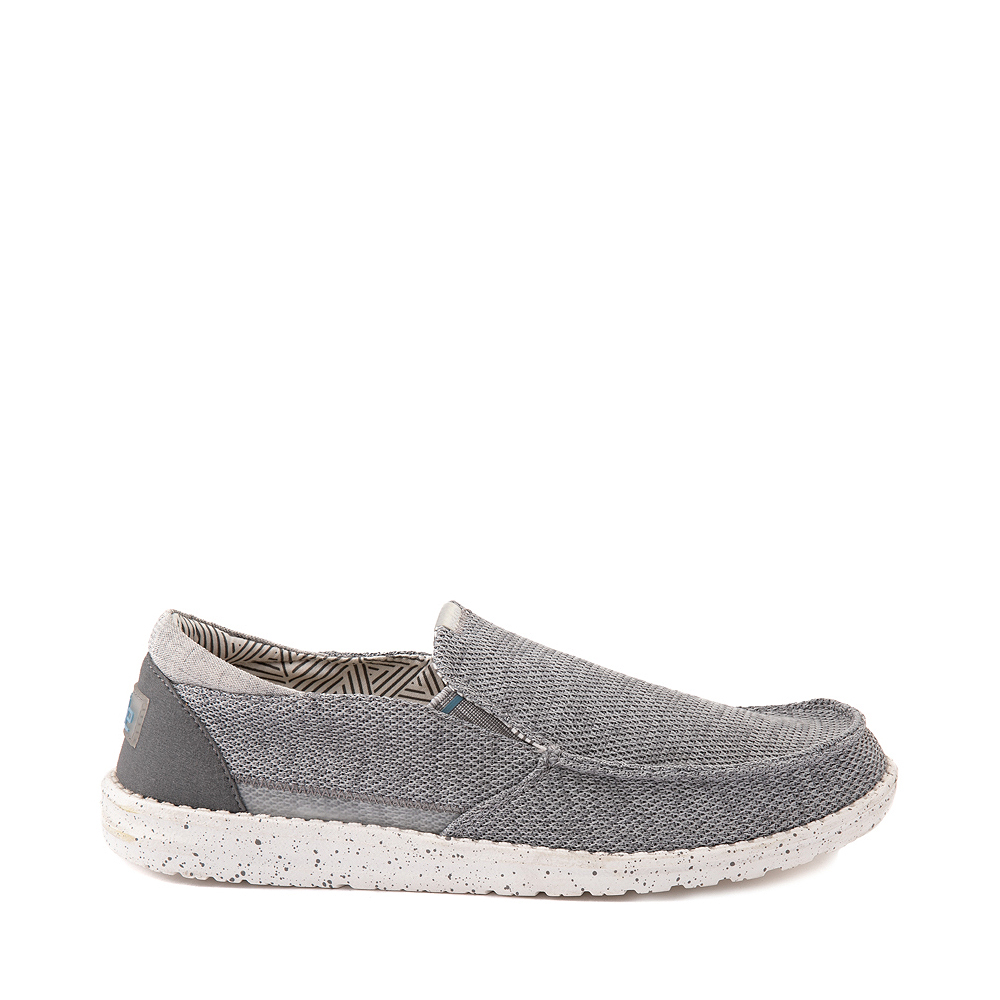 Mens Hey Dude Thad Slip On Casual Shoe - Sharkskin