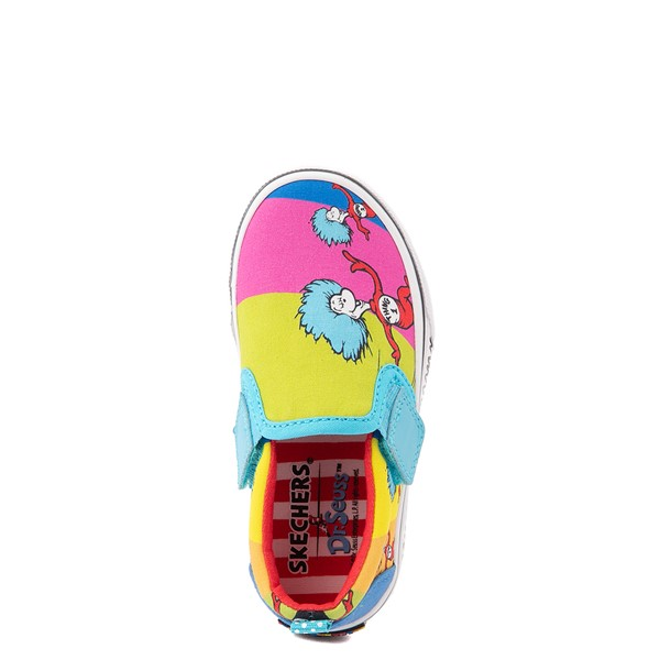 alternate view Skechers x Dr. Seuss Marley Jr. Things Ran Up Slip On Sneaker - Toddler - MulticolorALT4B