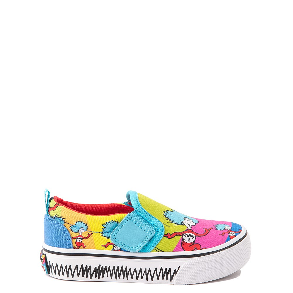 Skechers x Dr. Seuss Marley Jr. Things Ran Up Slip On Sneaker - Toddler - Multicolor