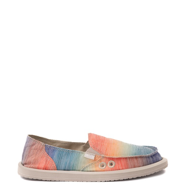 Main view of Womens Sanuk Donna Shave Ice Slip On Casual Shoe - Hawaiian Rainbow