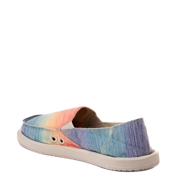alternate view Womens Sanuk Donna Shave Ice Slip On Casual Shoe - Hawaiian RainbowALT1