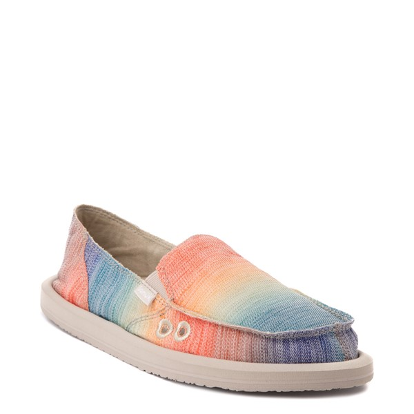 alternate view Womens Sanuk Donna Shave Ice Slip On Casual Shoe - Hawaiian RainbowALT5