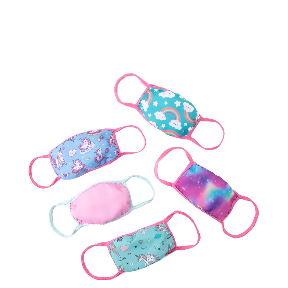 Face Cover 5 Pack - Little Kid - Multicolor
