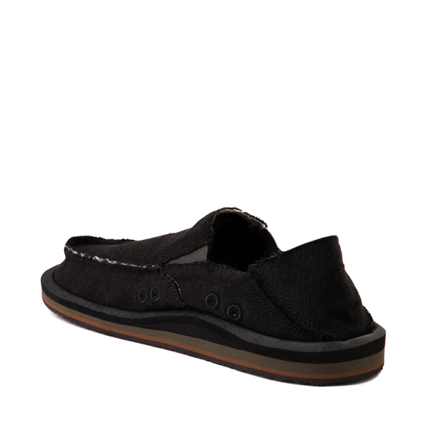 alternate view Mens Sanuk Vagabond Hemp Slip On Casual Shoe - BlackALT1
