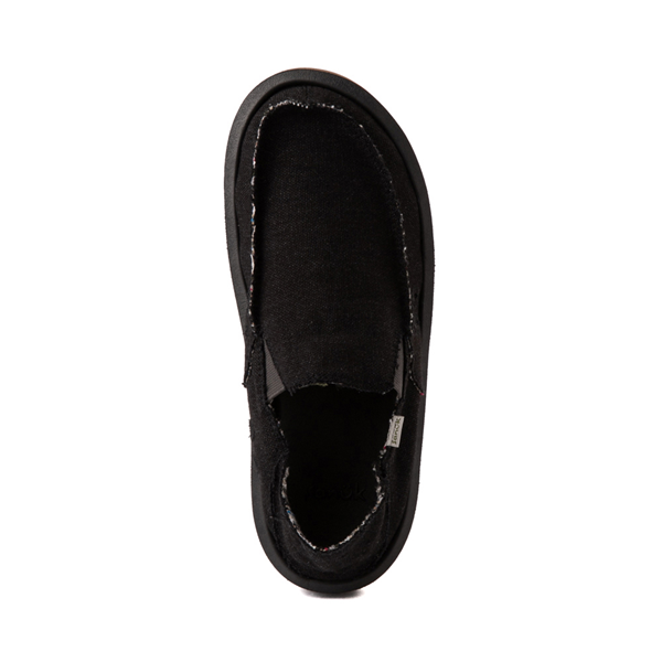 alternate view Mens Sanuk Vagabond Hemp Slip On Casual Shoe - BlackALT2