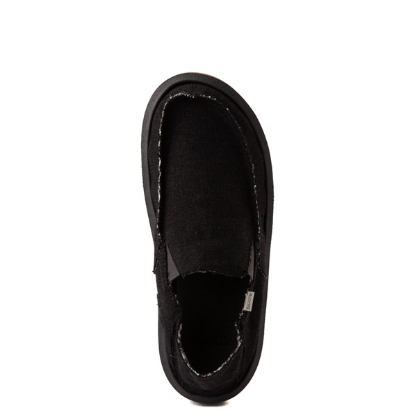 alternate view Mens Sanuk Vagabond Hemp Slip On Casual Shoe - BlackALT4B