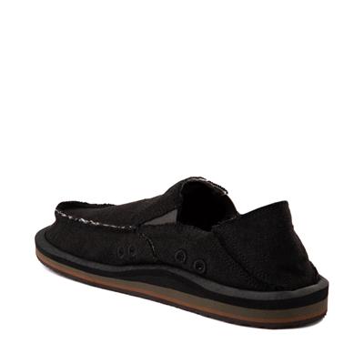Alternate view of Mens Sanuk Vagabond Hemp Slip On Casual Shoe - Black