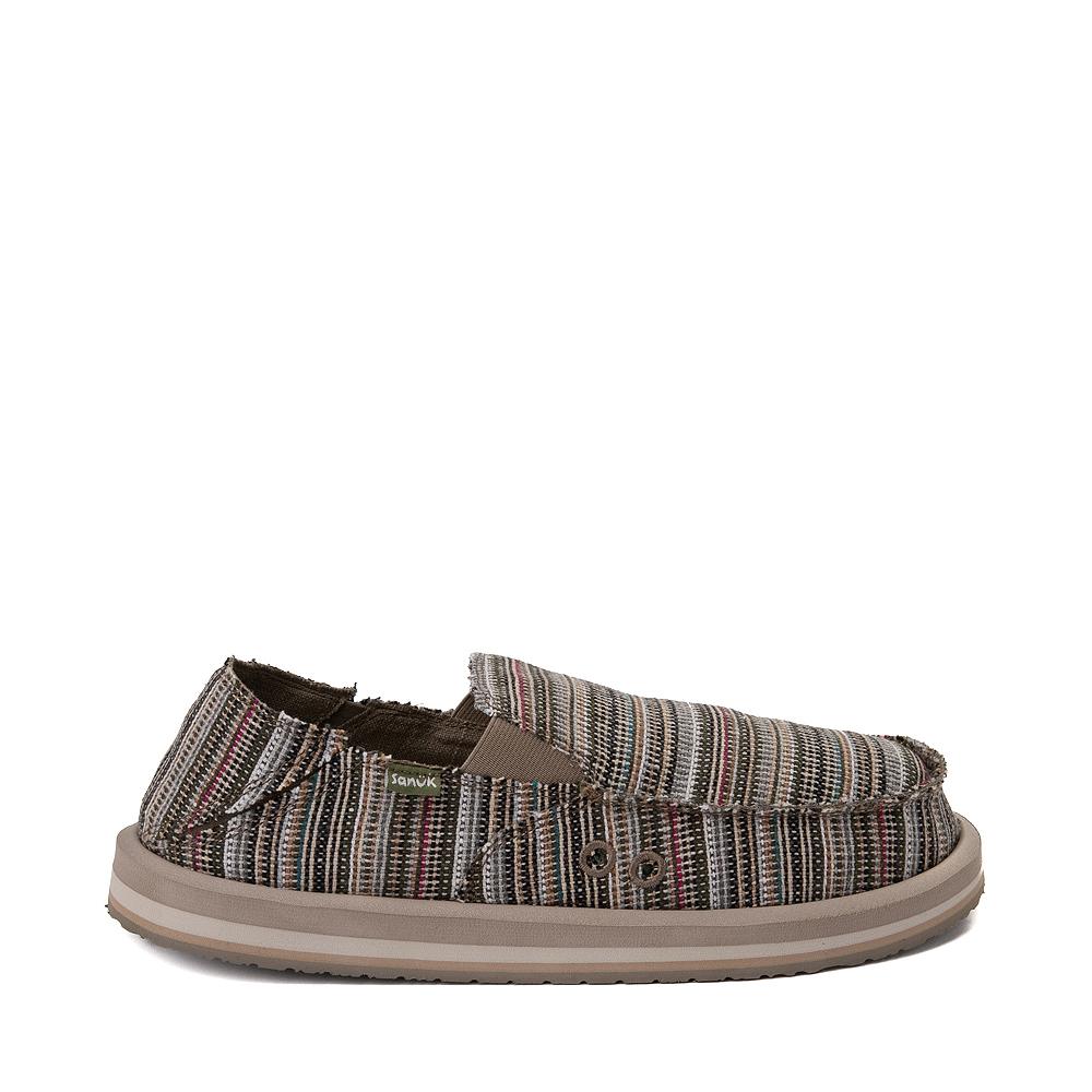Mens Sanuk Vagabond Funk Slip On Casual Shoe - Cabo Stripes