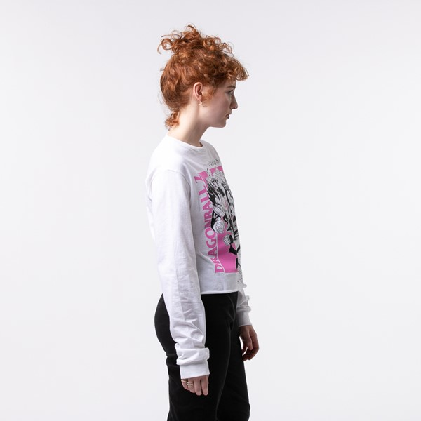 alternate view Womens Dragon Ball Z Cropped Long Sleeve Tee - WhiteALT2