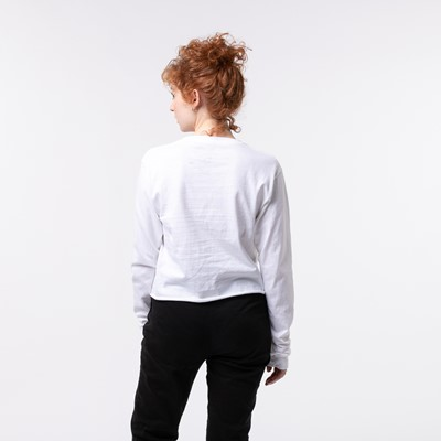 Alternate view of Womens Dragon Ball Z Cropped Long Sleeve Tee - White