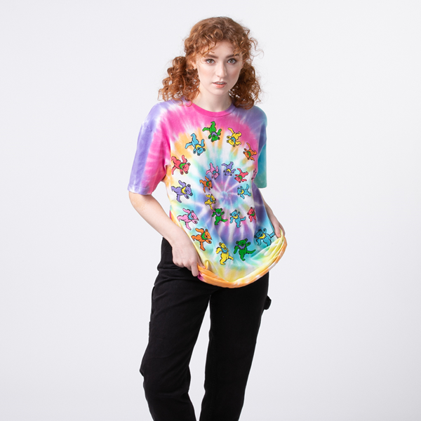 alternate view Womens Grateful Dead Marching Bears Tee - Tie DyeALT1