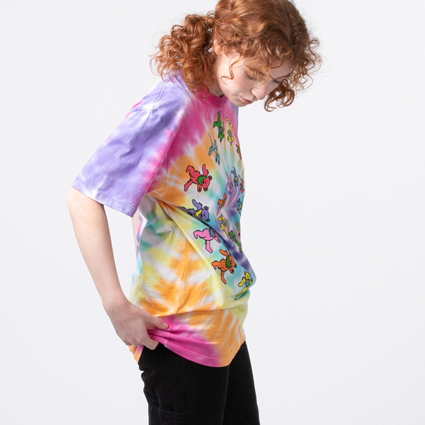 alternate view Womens Grateful Dead Marching Bears Tee - Tie DyeALT3