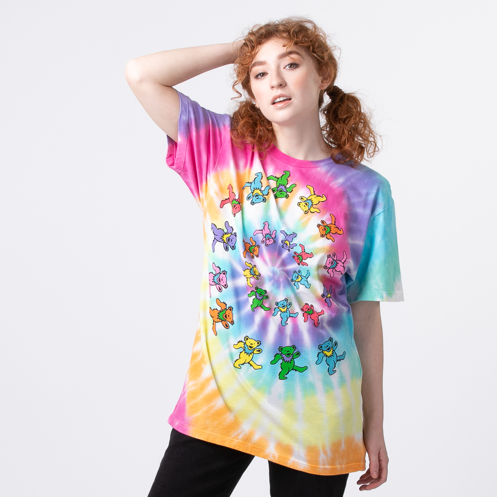 Womens Grateful Dead Marching Bears Tee - Tie Dye