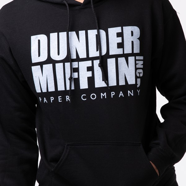 alternate view Mens Dunder Mifflin Hoodie - BlackALT1C