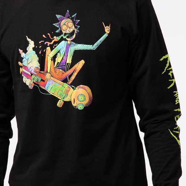 alternate view Mens Rick and Morty Psyched Long Sleeve Tee - BlackALT1B