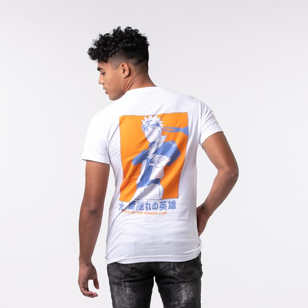 Main view of Mens Naruto Hero Of The Hidden Leaf Tee - White
