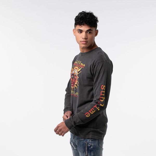 alternate view Mens Sublime Long Sleeve Tee - Dark GrayALT3