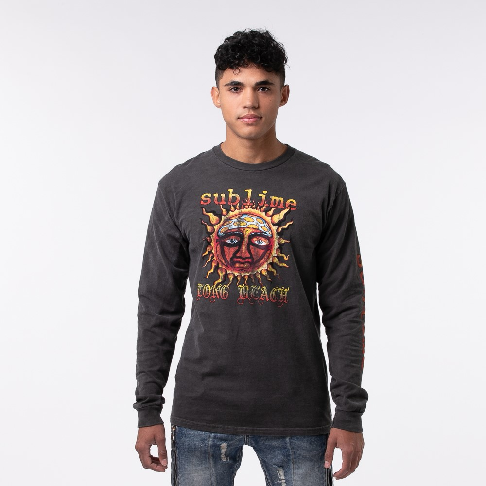 Mens Sublime Long Sleeve Tee - Dark Gray