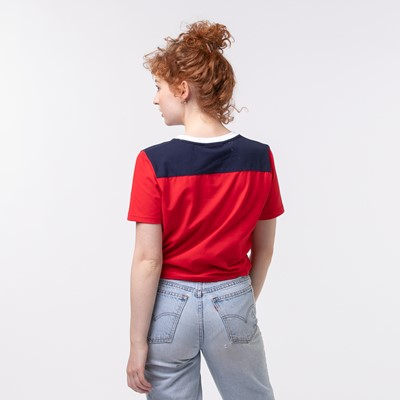 Alternate view of Womens Fila Mayka Cropped Tee - Red