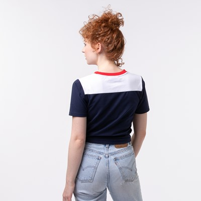 Alternate view of Womens Fila Mayka Cropped Tee - Navy