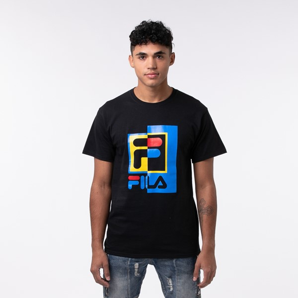 Main view of Mens Fila Oakmont Hookup Norm Tee - Black