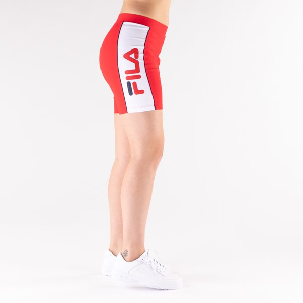 alternate view Womens Fila Trina High Waisted Bike Shorts - RedALT3