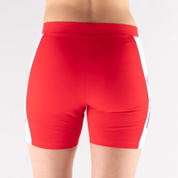 alternate view Womens Fila Trina High Waisted Bike Shorts - RedALT5B