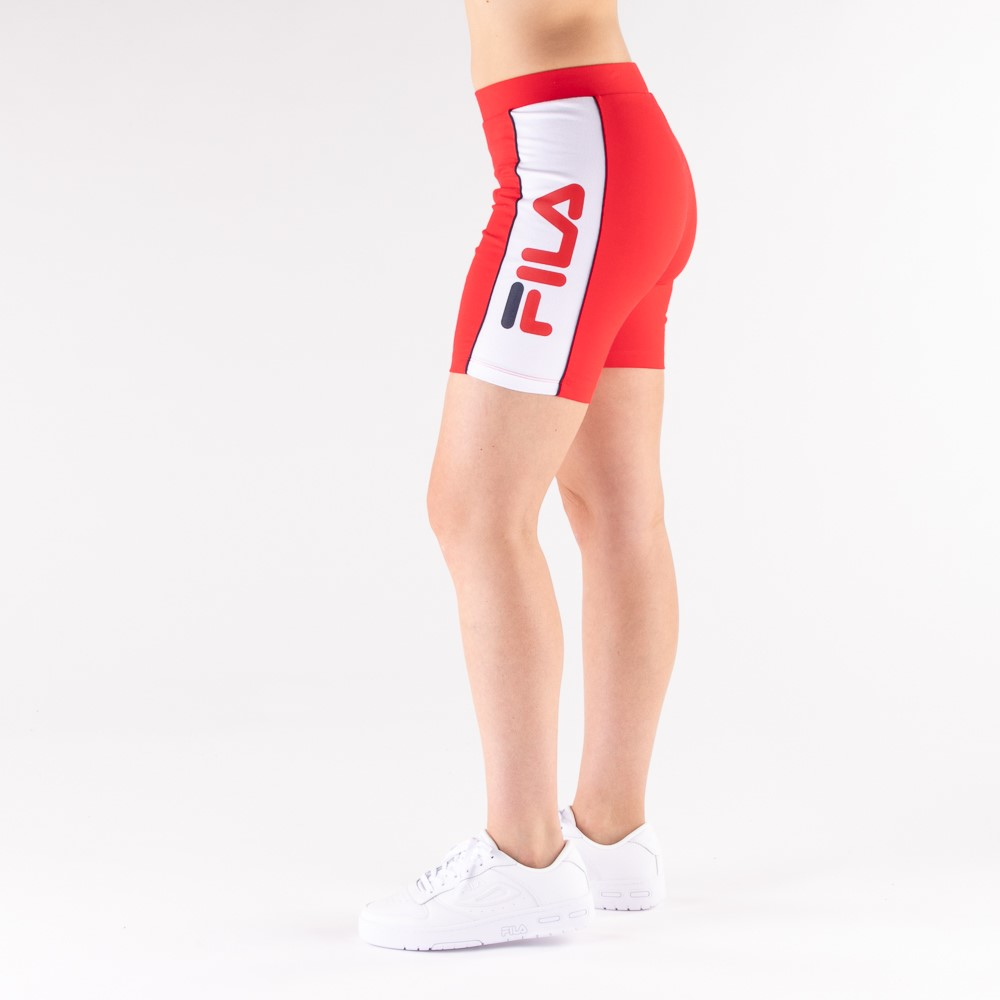Womens Fila Trina High Waisted Bike Shorts - Red
