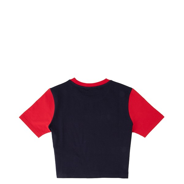 alternate view Womens Fila Blossom Cropped Tee - NavyALT1