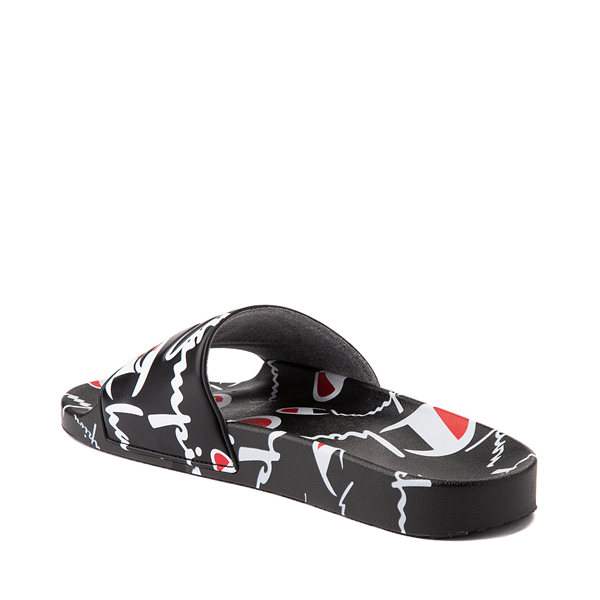 alternate view Mens Champion IPO Warped Slide - BlackALT2