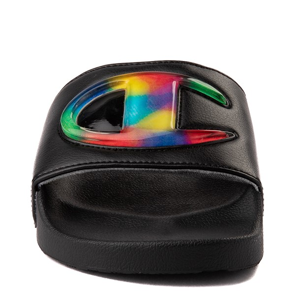 alternate view Womens Champion IPO Jellie Slide - Black / MulticolorALT4x