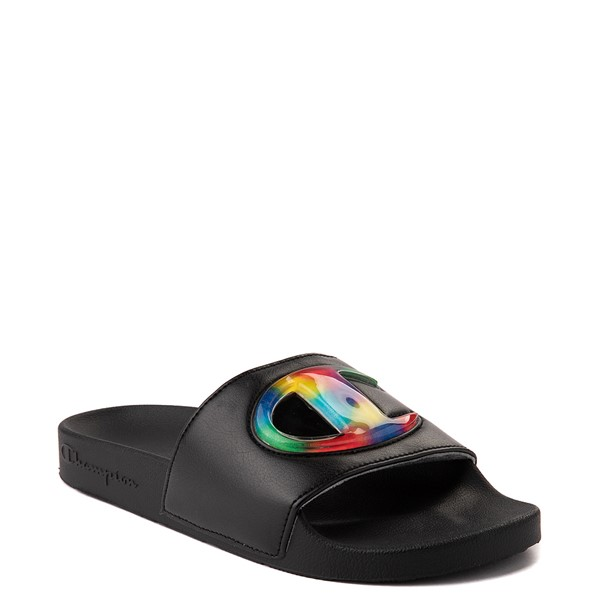 alternate view Womens Champion IPO Jellie Slide - Black / MulticolorALT5