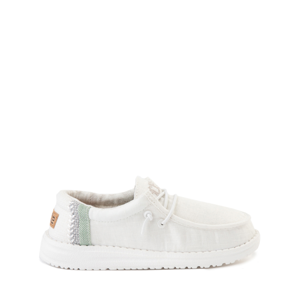 Main view of Hey Dude Wally Casual Shoe - Little Kid / Big Kid - Natural White