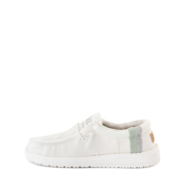 alternate view Hey Dude Wally Casual Shoe - Little Kid / Big Kid - Natural WhiteALT1