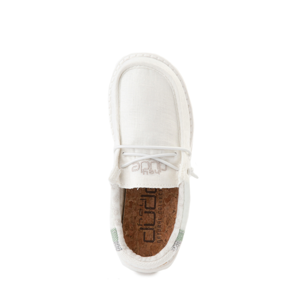 alternate view Hey Dude Wally Casual Shoe - Little Kid / Big Kid - Natural WhiteALT2