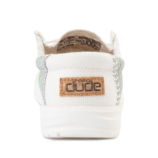 alternate view Hey Dude Wally Casual Shoe - Little Kid / Big Kid - Natural WhiteALT4