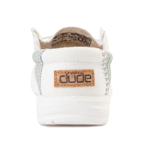 alternate view Hey Dude Wally Casual Shoe - Little Kid / Big Kid - Natural WhiteALT4