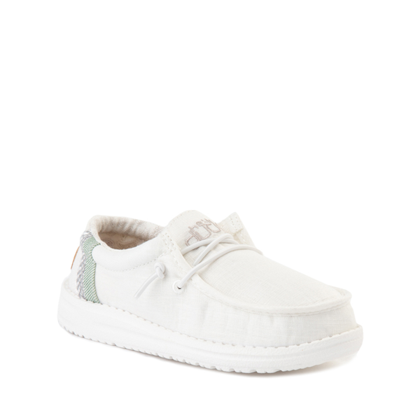 alternate view Hey Dude Wally Casual Shoe - Little Kid / Big Kid - Natural WhiteALT5