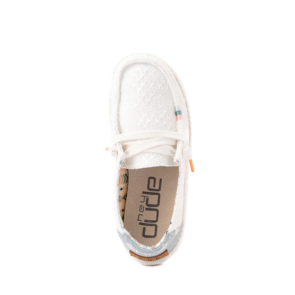 alternate view Hey Dude Wendy Boho Crochet Slip On Casual Shoe - Little Kid / Big Kid - WhiteALT2