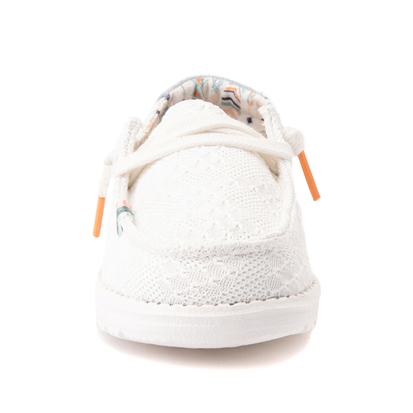 alternate view Hey Dude Wendy Boho Crochet Slip On Casual Shoe - Little Kid / Big Kid - WhiteALT4