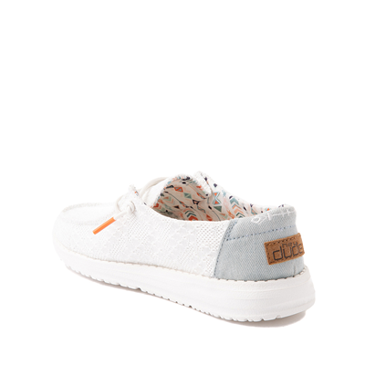 Alternate view of Hey Dude Wendy Boho Crochet Slip On Casual Shoe - Little Kid / Big Kid - White