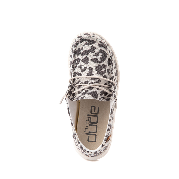 alternate view Hey Dude Wendy Slip On Casual Shoe - Little Kid / Big Kid - LeopardALT2