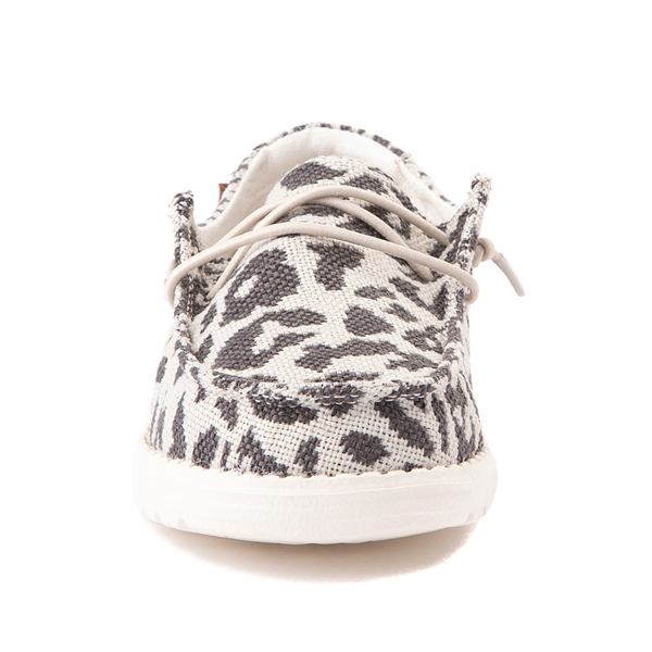 alternate view Hey Dude Wendy Slip On Casual Shoe - Little Kid / Big Kid - LeopardALT4