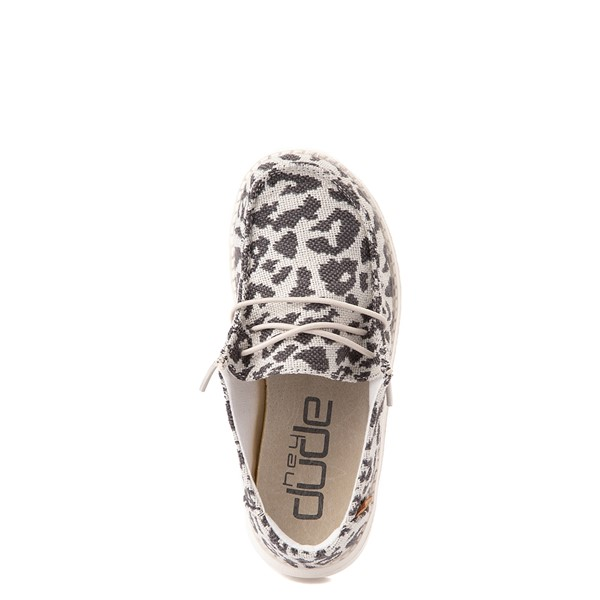 alternate view Hey Dude Wendy Slip On Casual Shoe - Little Kid / Big Kid - LeopardALT4B