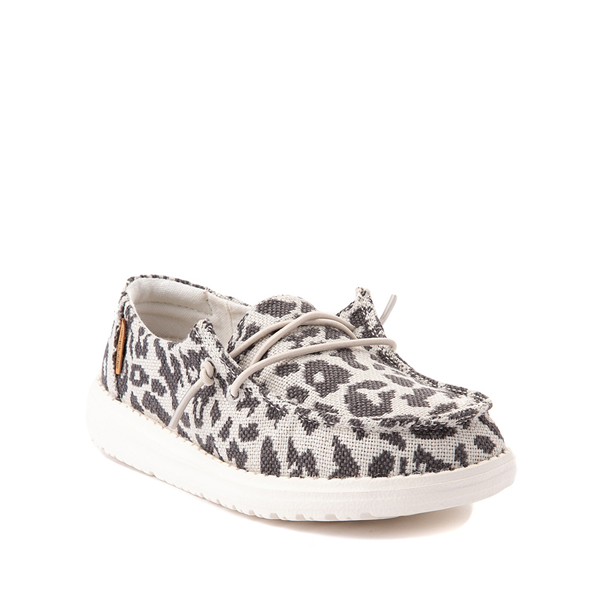 alternate view Hey Dude Wendy Slip On Casual Shoe - Little Kid / Big Kid - LeopardALT5