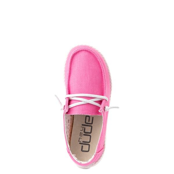 alternate view Hey Dude Wendy Slip On Casual Shoe - Little Kid / Big Kid - FuchsiaALT4B