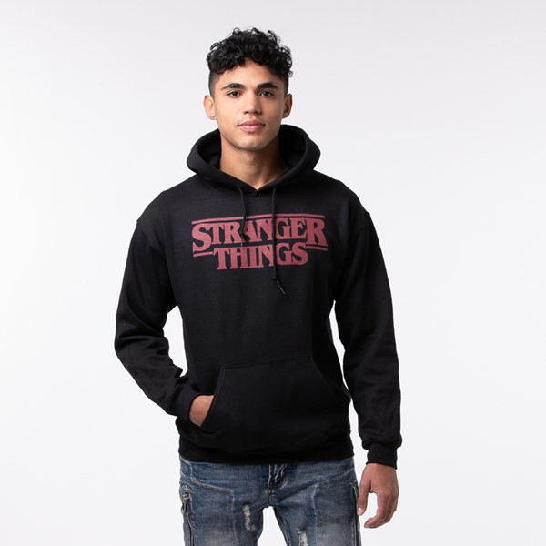 Mens Stranger Things Hoodie - Black