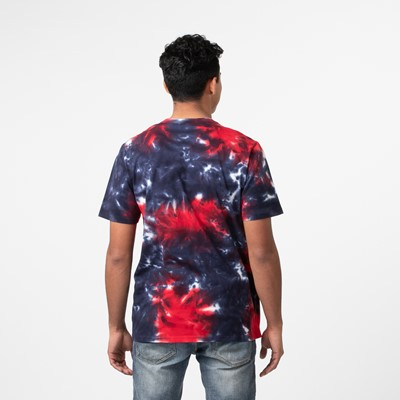 Alternate view of Mens Fila Tie Dye Tee - Navy / Red