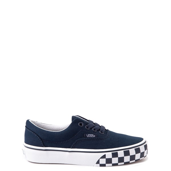 Vans Era Checkerboard Bumper Skate Shoe - Little Kid - Dress Blues