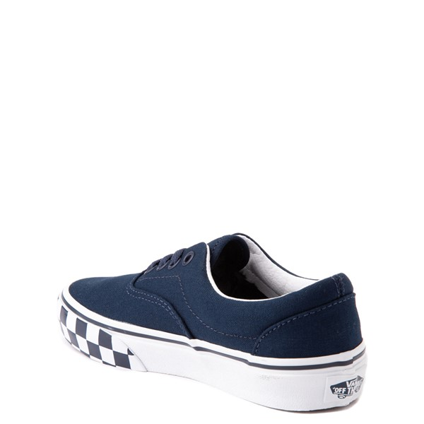 alternate view Vans Era Checkerboard Bumper Skate Shoe - Little Kid - Dress BluesALT1